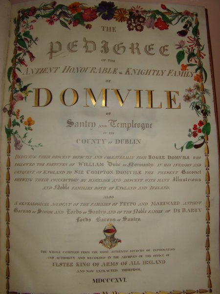 The Pedigree of Domvile