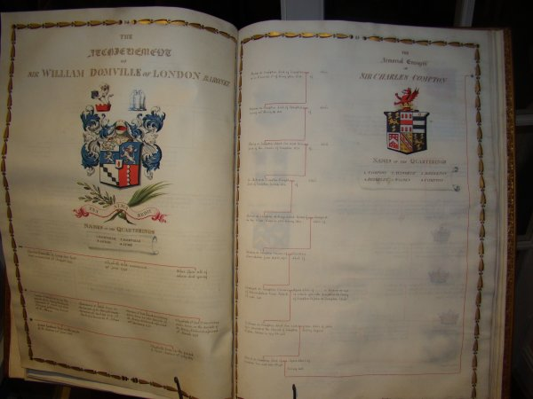 The Atchievement of Sir William Domville of London Baronet, The Armorial Ensigns of Sir Charles Compton
